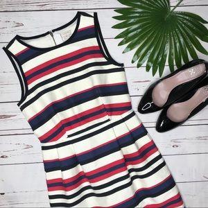 {J. Crew} sz 00 striped sheath dress